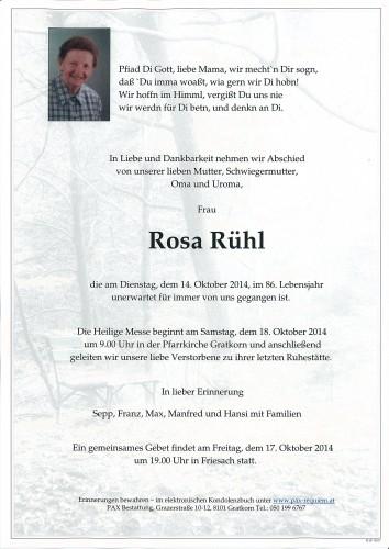 Rosa Rühl