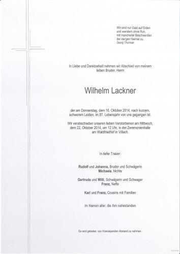 Wilhelm Lackner