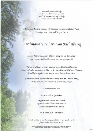 Ferdinand von Aichelburg
