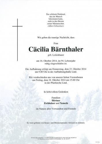 Cäcilia Bärnthaler