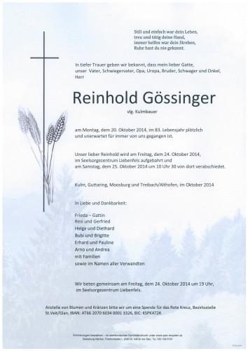 Reinhold Gössinger
