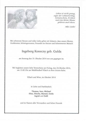 Ingeborg Konecny geb. Gulda