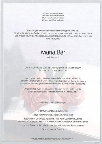 Maria Bär