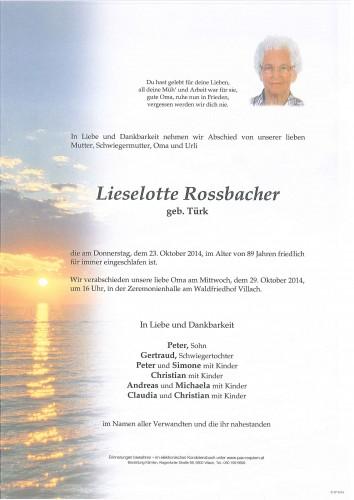Lieselotte Rossbacher