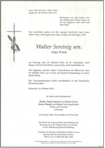 Walter Sereinig sen. vulgo Krana