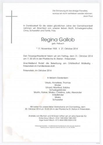 Regina Gallob geb. Pellosch