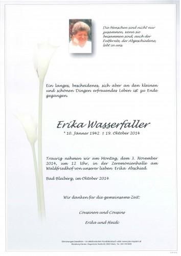 Erika Wasserfaller geb. Emberger