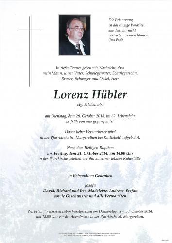 Lorenz Hübler