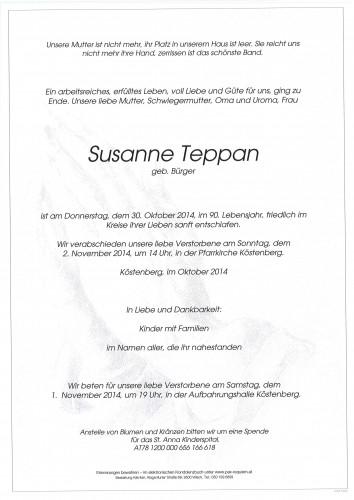Susanne Teppan geb. Bürger