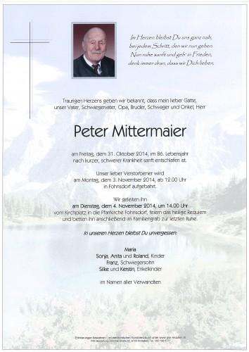 Peter Mittermaier