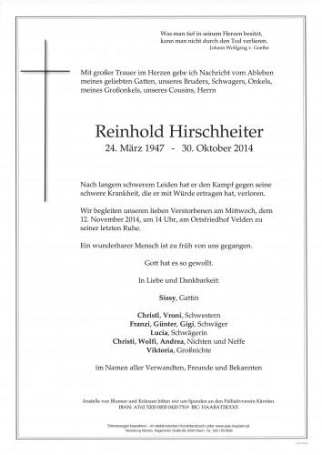Reinhold Hirschheiter