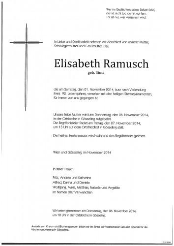 Elisabeth Ramusch   geb. Sima