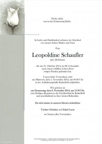 Leopoldine Schaufler