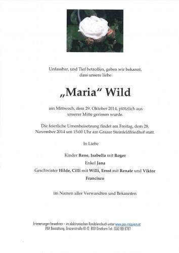Maria Wild