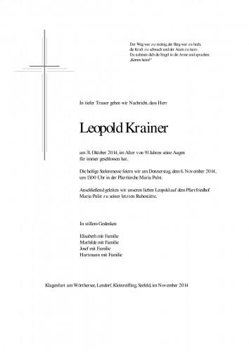 Leopold Krainer