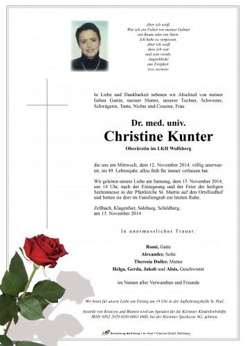 Dr. Med.Univ. Christine Kunter