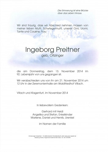 Ingeborg Preitner