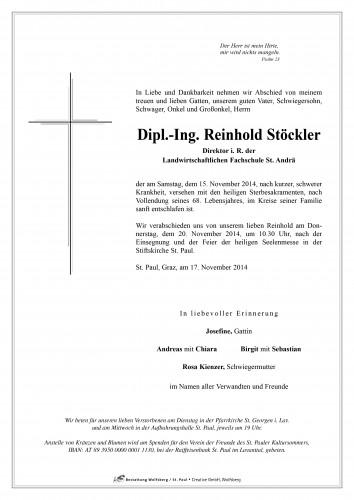 Dipl. - Ing. Stöckler Reinhold