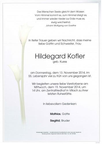 Hildegard Kofler geb. Kuess