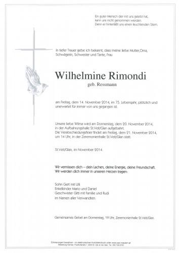 Wilhelmine Rimondi, geb Ressmann