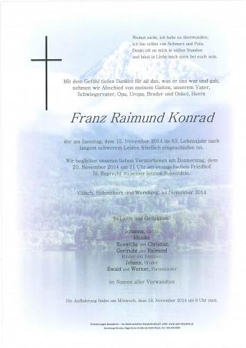Franz Raimund Konrad