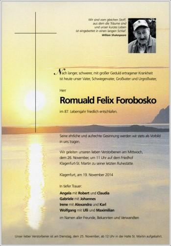 Felix Romuald Forobosko