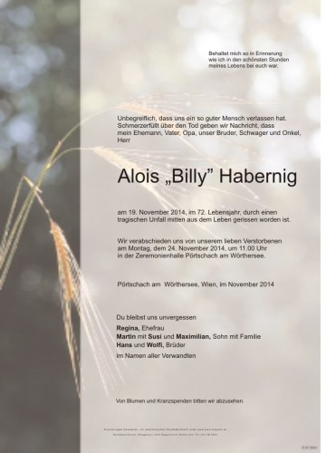 Alois  Habernig