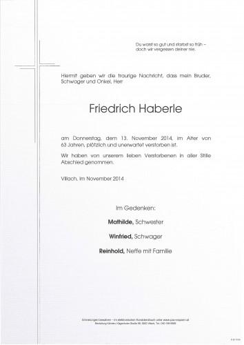 Friedrich Haberle