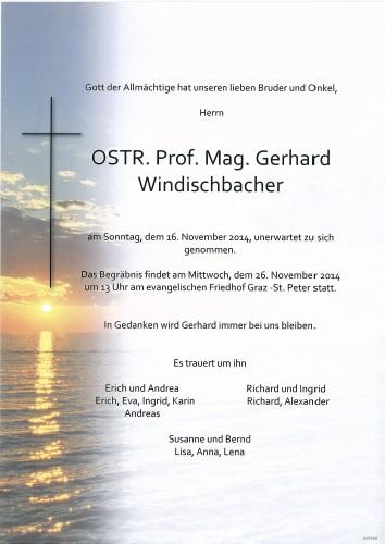 OSTR. Prof. Mag. Gerhard Windischbacher