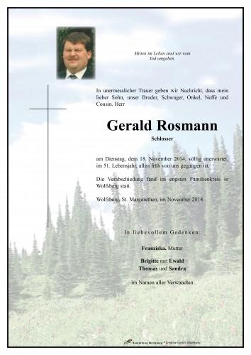 Gerald Rosmann