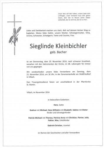 Sieglinde Kleinbichler