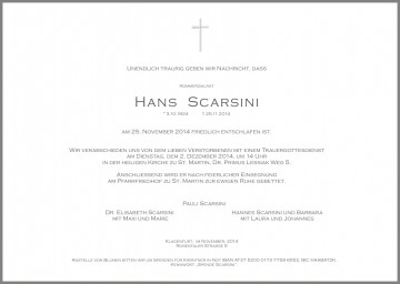 Komm. Rat Hans Scarsini