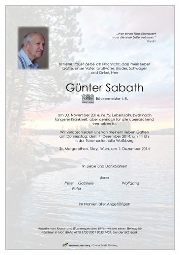 Günter Sabath