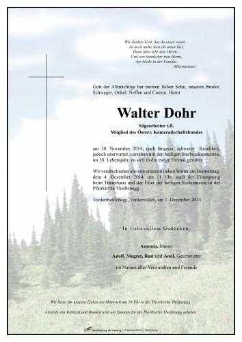Walter Dohr