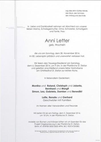 Anni Letter