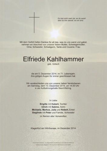 Elfriede Kahlhammer