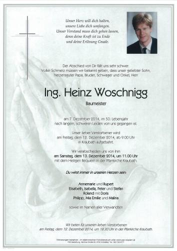 Ing. Heinz Woschnigg