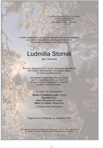 Ludmilla Stornik
