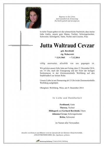 Jutta Waltraud Cevzar