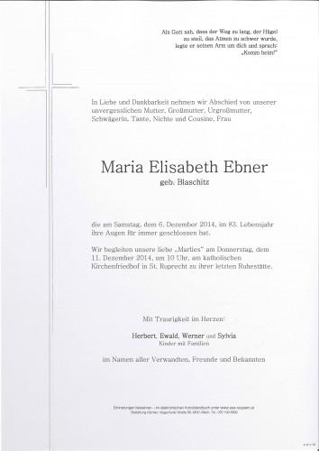 Maria Elisabeth Ebner