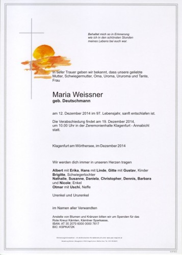 Weissner Maria