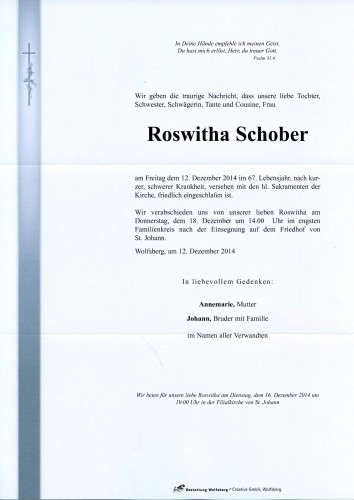 Roswitha Schober