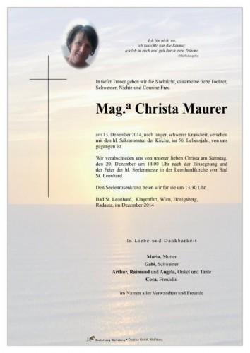 Mag. Christa Maurer