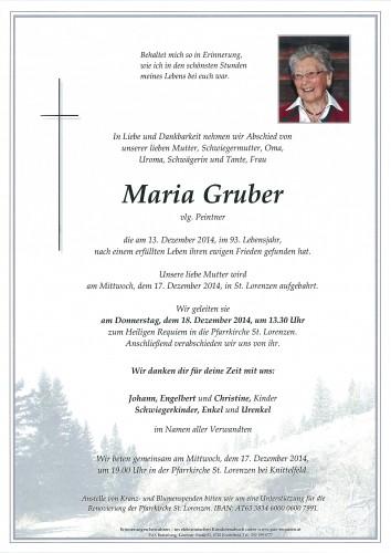 Maria Gruber  vlg. Peintner