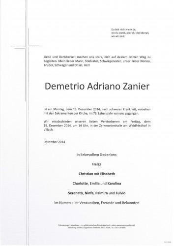 Demetrio Adriano Zanier