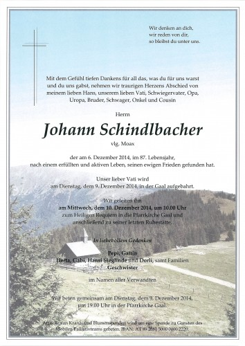 Johann Schindlbacher