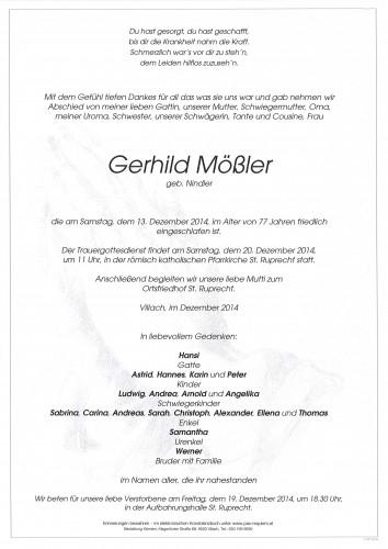Gerhild Mößler geb. Nindler