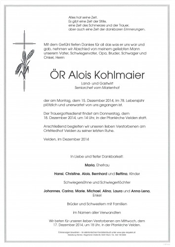 ÖR Alois Kohlmaier