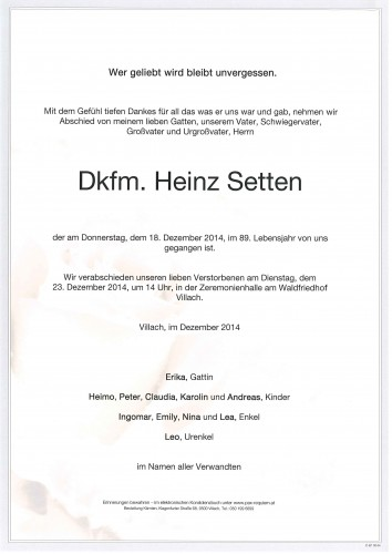 Heinz Setten