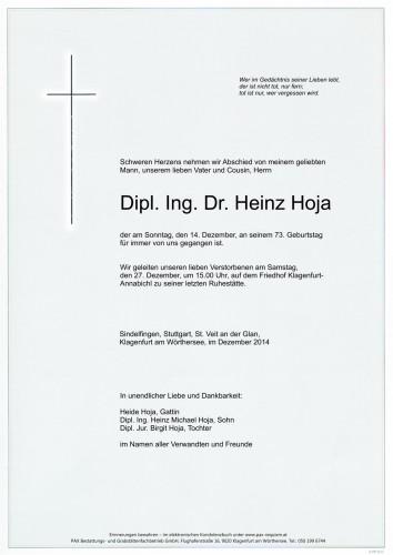 Dipl. Ing. Dr. Heinz Hoja